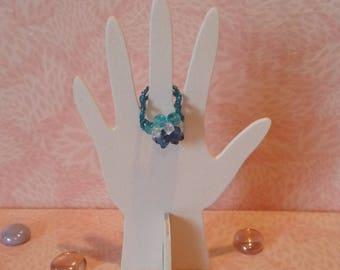 Ring beaded - Blue Lotus