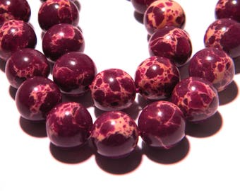 5 Pearl 10 mm purple - gem stone fine PG219 reality