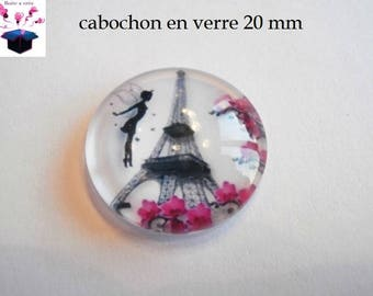 1 cabochon clear 20mm Elf a paris theme