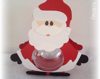 Christmas Santa Christmas 18 cm + ball transparent 8cm