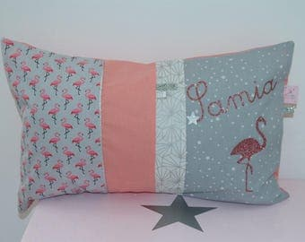 Cushion personalized prenomet flamingos 30 x 50 to order