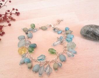 Blue Bead Necklace Set