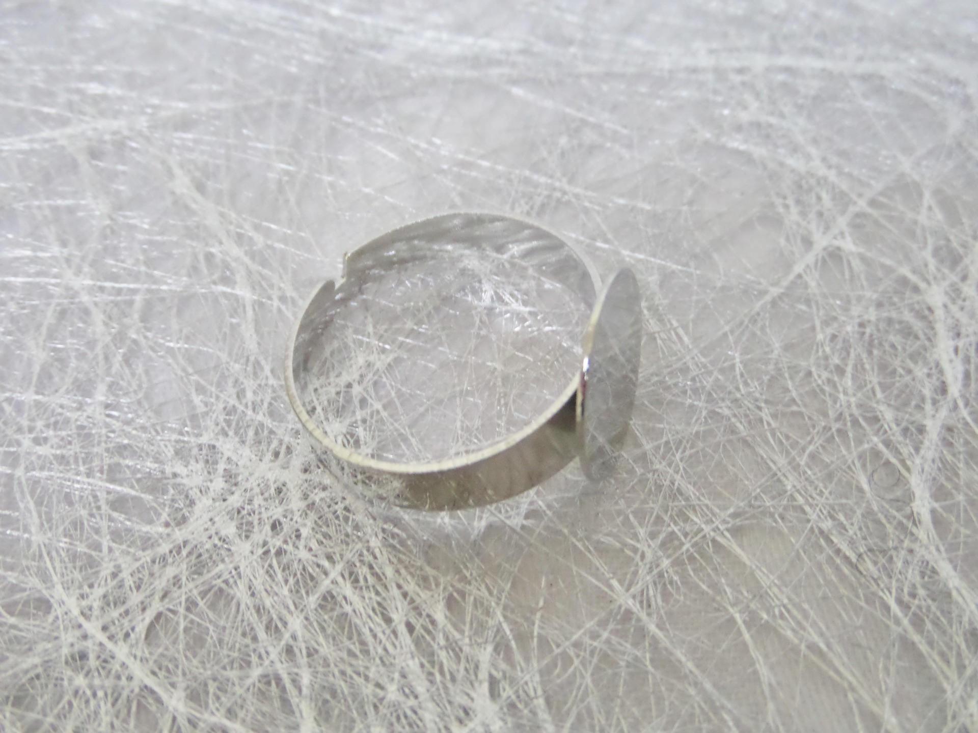 5 Bagues Anneaux Spiral Support Pr Plateau Camée ornement Réglable Bronze DIY
