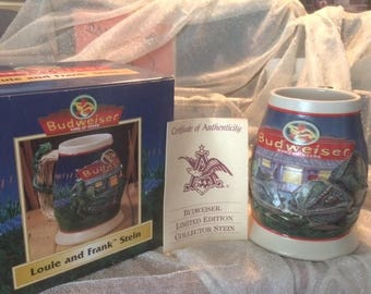 Budweiser Stein Louie and Frank 1998
