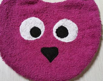 Original vintage Terry cloth bib with pink