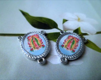 1 Connector for Rosary Virgin of Guadalupe 20 x 15 mm