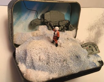Star Wars Hoth Battle 3 Miniature Diorama