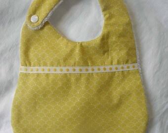 Bavoir tissu coton avec des écailles pointillées, éponge pour les bébés de la naissance à 12 mois et plus