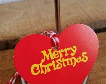 Set of 5 gift tags (4, 5 x 5, 5 cm) bundle of Christmas