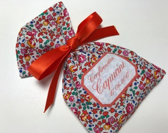 10 sachets favors personalized in Liberty Eloise