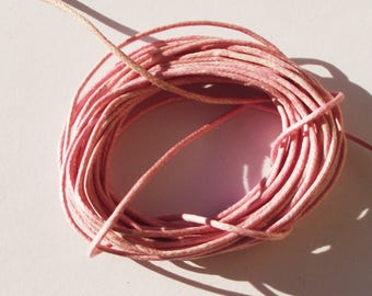 Light pink 1 mm thick cotton cord.