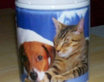 Personalize a name or other cat & dog mug