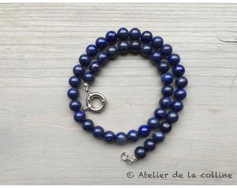 Lapis Lazuli necklace made with 10 mm beads