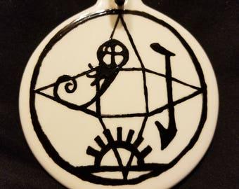 Banish bad luck sigil ornament