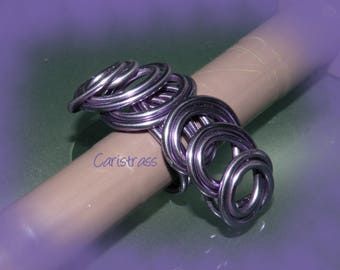 Light lilac loop ring