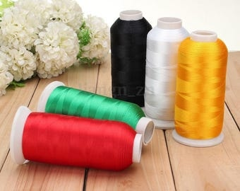 Black 1 reel 5000 m thread to sew sewing Polyester within 15 days