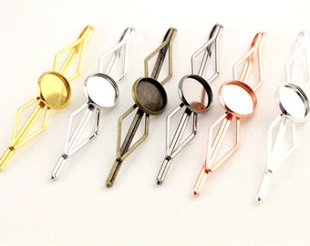 12 MM/5 to 12 mm cabochon Bobby pins, clips tie within 15 days