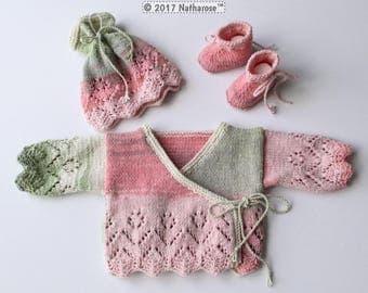 Ensemble bébé fille rose et vert