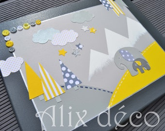 Table decoration for child theme babyfan (made to order)