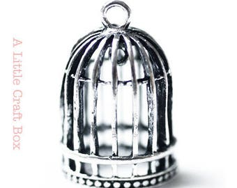 "1 pendant ""bird cage"" - antique silver"