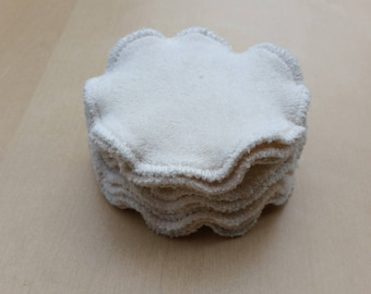 10 discs cleansing washable hemp and organic cotton