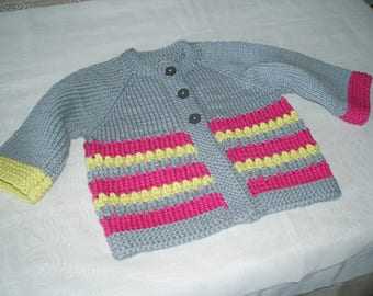 Hand knitted baby Cardigan