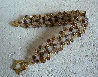 Swarovski MOCHA Crystal beaded bracelet