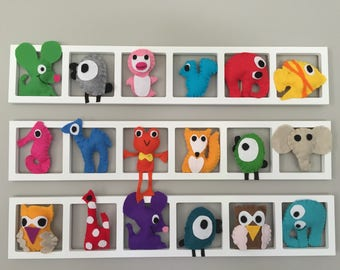 Decorative wall frame for unique and personalized baby and children's room
