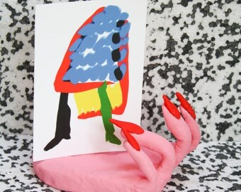 50% OFF ABSTRACT LEGS Postcard