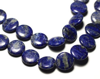 2PC - stone beads - Lapis Lazuli 16mm - 8741140019690 pucks
