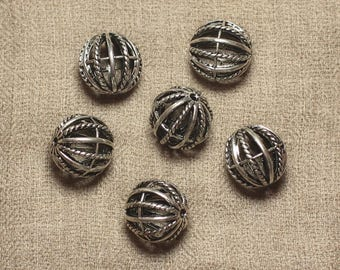 Pearl Metal Silver Rhodium ball Cage 18mm - 1pc 4558550027313