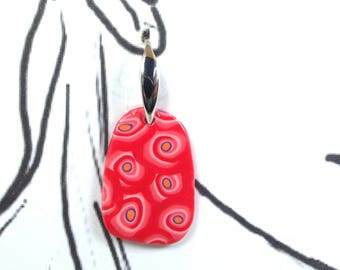 Earrings picture: faux plain of coral flowers.