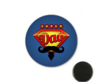 Super Dad Magnet 32 mm magnet