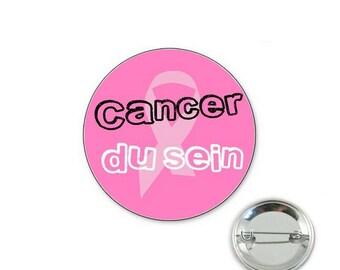 Breast - o32mm pin badge