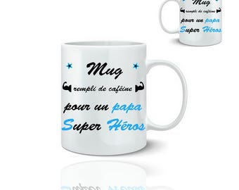 super hero dad mug