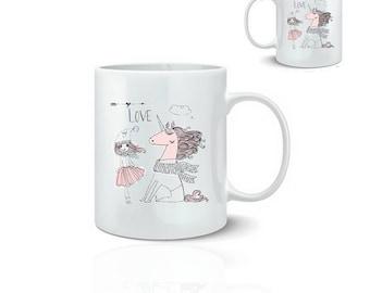 Princess Unicorn - ceramic mug mug 325 ml