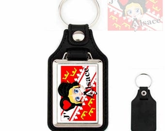 Love Keychain leather Alsace - Alsace