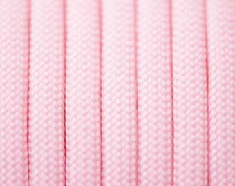 Paracord 550 type III length 1 m pink glow