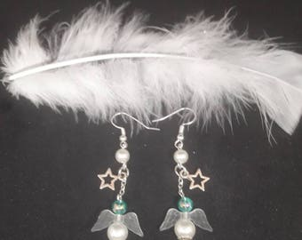 Angels and stars earrings