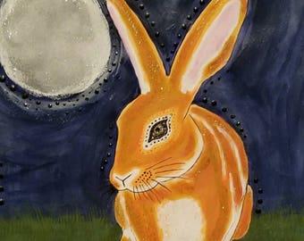 Alice under the full moon
