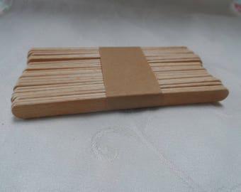 set of 25 natural wooden flat sticks
