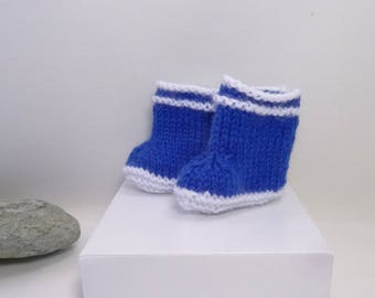 Slipper boots for doll, wool