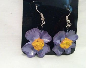 4 petal Flower Earrings