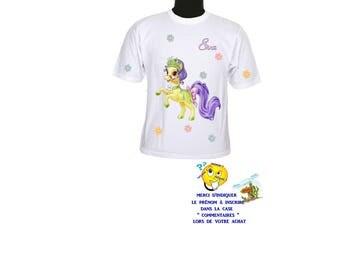 t-shirt kids pony pattern customizable ref 142