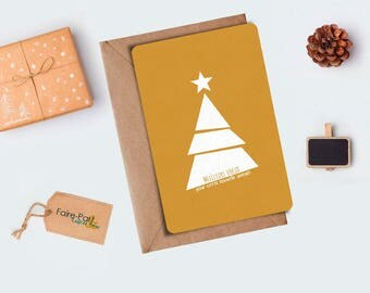 Card/Christmas tree gold card