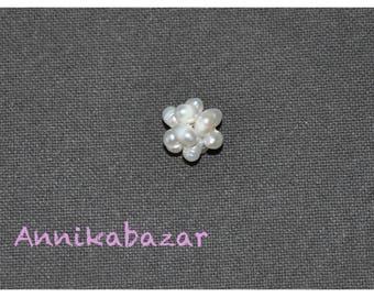 2 beautiful balls of natural cultured fresh water pearl beads 16 mm