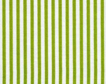 Patchwork fabric striped green white matryoshka by Riley Blake
