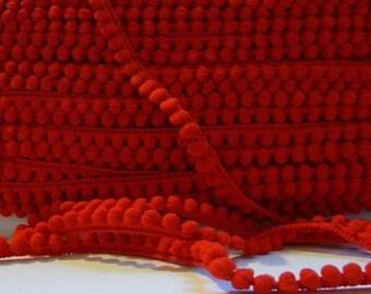 Ribbon braid tassels 6 mm Red