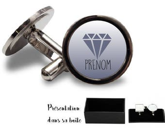 Round or square personalized model cuff buttons