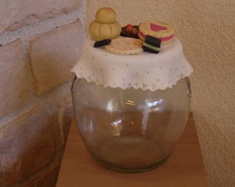 bocal à biscuits ou friandises